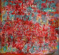 silvia-messerli-Fantasy-Society-Modern-Age-Abstract-Art-Art-Brut