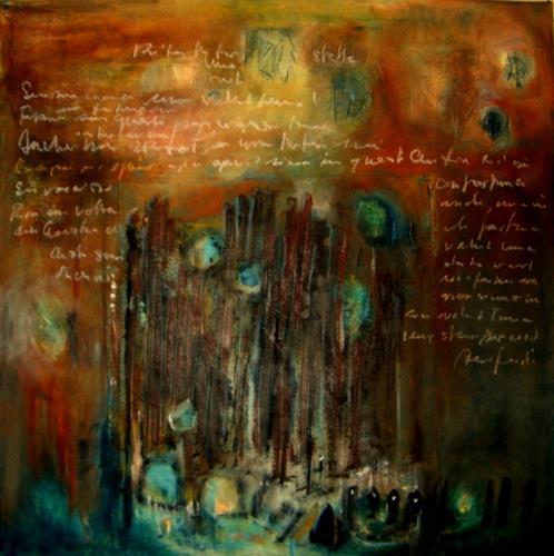 silvia messerli, Ge_Schichten, Poetry, Decorative Art, Others, Expressionism