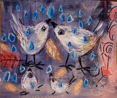 silvia messerli, endlich Regen, Animals: Air, Fantasy, Art Brut, Expressionism