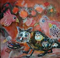 silvia-messerli-Fantasy-Miscellaneous-Animals-Modern-Age-Abstract-Art-Art-Brut