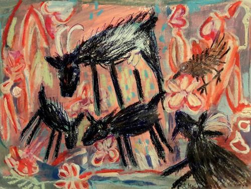 silvia messerli, Ziegen, Animals: Land, Fantasy, Art Brut