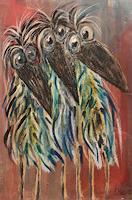 silvia-messerli-Animals-Air-Fantasy-Modern-Age-Abstract-Art-Art-Brut