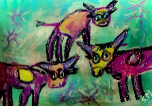 silvia messerli, modern Milka :-), Humor, Animals: Land, Art Brut