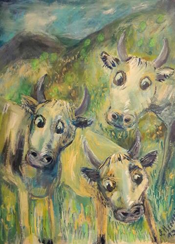 silvia messerli, Kühe im Emmental, Nature: Miscellaneous, Animals: Land, Land-Art