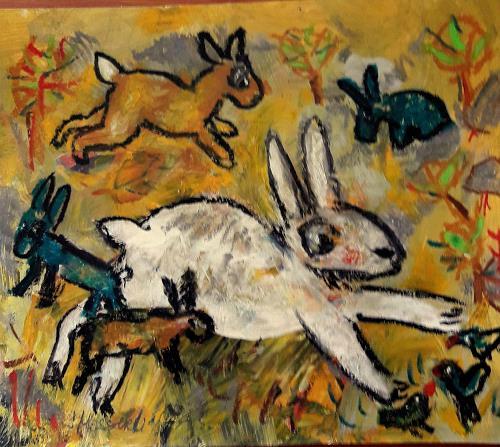 silvia messerli, Ostern naht ;-), Animals: Land, Emotions: Joy, Art Brut