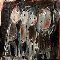 silvia-messerli-People-Group-Movement-Modern-Age-Abstract-Art-Art-Brut