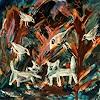 silvia messerli, Nachts im Wald, Nature: Wood, Miscellaneous Animals, Art Brut