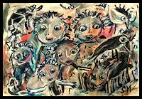 silvia-messerli-People-Group-Miscellaneous-Animals-Modern-Age-Abstract-Art-Art-Brut