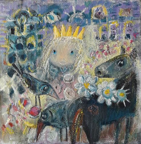 silvia messerli, Prinzessinnenträume, People: Women, Fantasy, Contemporary Art