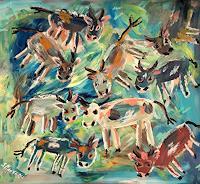 silvia-messerli-Animals-Land-Fantasy-Modern-Age-Abstract-Art-Art-Brut