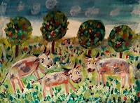 silvia-messerli-Animals-Land-Landscapes-Spring-Modern-Age-Abstract-Art-Art-Brut