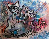 silvia-messerli-Fantasy-Animals-Land-Modern-Age-Abstract-Art-Art-Brut