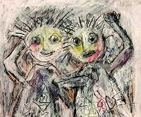 silvia-messerli-People-Faces-Emotions-Joy-Modern-Age-Expressionism-Abstract-Expressionism