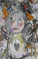 silvia-messerli-People-Women-Emotions-Joy-Modern-Age-Abstract-Art-Art-Brut