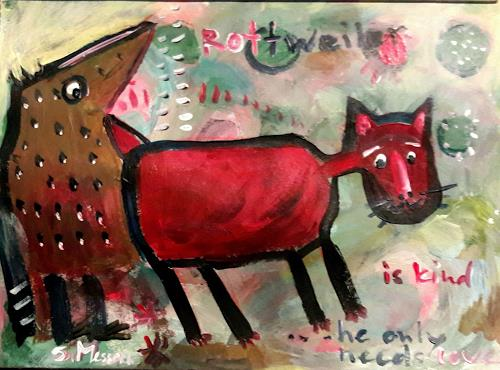 silvia messerli, Rottweiler, Fantasy, Animals: Land, Art Brut