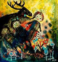 silvia-messerli-Fantasy-Animals-Modern-Age-Abstract-Art-Art-Brut