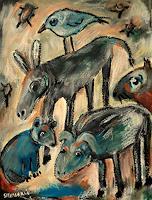 silvia-messerli-Miscellaneous-Animals-Fantasy-Modern-Age-Abstract-Art-Art-Brut