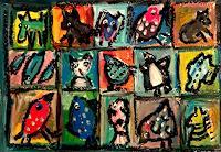 silvia-messerli-Emotions-Joy-Humor-Modern-Age-Abstract-Art-Art-Brut
