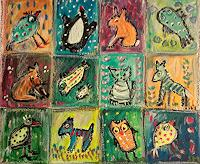 silvia-messerli-Miscellaneous-Animals-Miscellaneous-Modern-Age-Abstract-Art-Art-Brut
