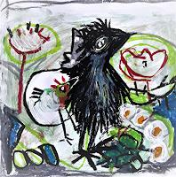 silvia-messerli-Fantasy-Animals-Air-Modern-Age-Abstract-Art-Art-Brut