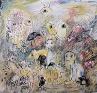 silvia-messerli-Fantasy-People-Families-Contemporary-Art-Contemporary-Art