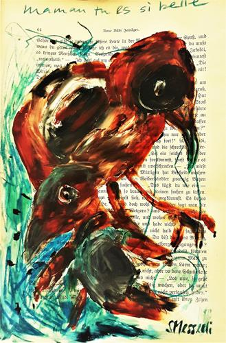 silvia messerli, mama tu es si belle, Animals: Air, Nature: Air, Art Brut, Abstract Expressionism