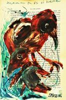 silvia-messerli-Animals-Air-Nature-Air-Modern-Age-Abstract-Art-Art-Brut