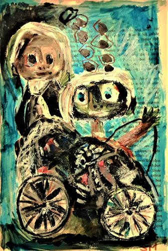 silvia messerli, unterwegs mit Wisa Gloria, People: Group, Miscellaneous People, Art Brut, Abstract Expressionism