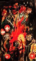 silvia-messerli-People-Group-Nature-Fire-Contemporary-Art-Contemporary-Art