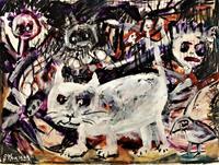 silvia-messerli-Emotions-Aggression-Animals-Land-Modern-Age-Abstract-Art-Art-Brut