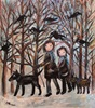 silvia messerli, Gassi ga, People: Group, Animals: Land, Contemporary Art
