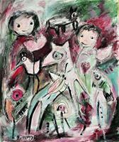 silvia-messerli-People-Group-Miscellaneous-Animals-Contemporary-Art-Contemporary-Art