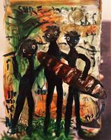 silvia-messerli-People-Group-Emotions-Joy-Modern-Age-Abstract-Art-Art-Brut