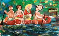 silvia-messerli-People-Group-Emotions-Joy-Contemporary-Art-Contemporary-Art