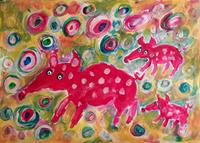 silvia-messerli-Animals-Land-Miscellaneous-Emotions-Modern-Age-Abstract-Art-Art-Brut