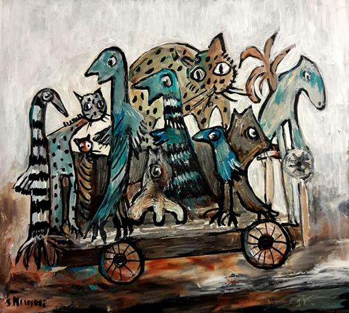 silvia messerli, wir kommen auch mit, Fantasy, Miscellaneous, Contemporary Art, Abstract Expressionism