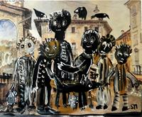 silvia-messerli-People-Families-Humor-Contemporary-Art-Contemporary-Art