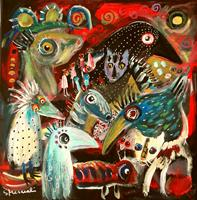 silvia-messerli-Emotions-Joy-Miscellaneous-Animals-Contemporary-Art-Contemporary-Art