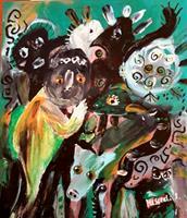 silvia-messerli-Emotions-Joy-People-Couples-Modern-Age-Abstract-Art-Art-Brut
