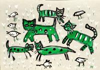 silvia-messerli-Animals-Land-Miscellaneous-Modern-Age-Abstract-Art-Art-Brut