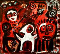 silvia-messerli-Burlesque-Fantasy-Modern-Age-Abstract-Art-Art-Brut