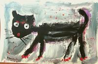 silvia-messerli-Animals-Land-Emotions-Joy-Modern-Age-Abstract-Art-Art-Brut
