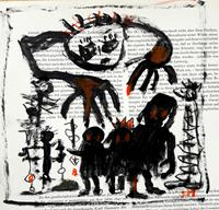 silvia-messerli-People-Group-Fantasy-Modern-Age-Abstract-Art-Art-Brut