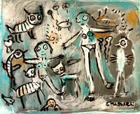 silvia-messerli-Miscellaneous-People-Emotions-Joy-Modern-Age-Abstract-Art-Art-Brut