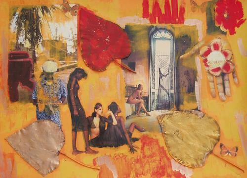 bia, LIBERTAD CUANDO, Decorative Art, Landscapes: Tropics, Pop-Art, Expressionism