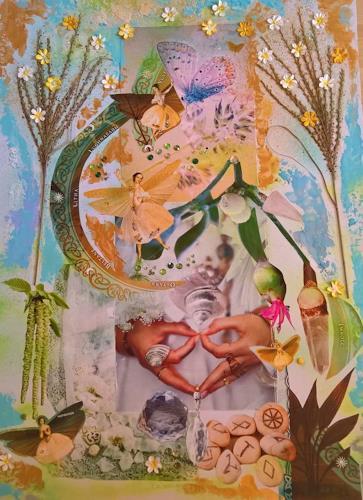 bia, EN ATTENDANT BELTANE, Mythology, Fantasy, Abstract Art, Expressionism