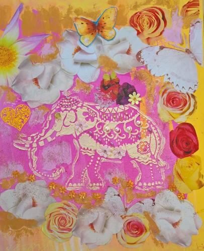 bia, ELEPHANT BOLLYWOOD, Miscellaneous Animals, Fantasy, Abstract Art, Expressionism