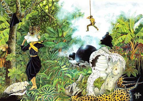 dominique hoffer, LA CAPTURE DU HASARD, Fantasy, Contemporary Art, Expressionism