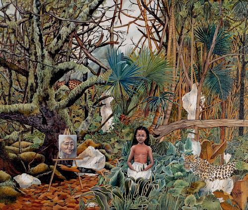 dominique hoffer, LA CONSTANCE DES ALIZEES, Fantasy, Abstract Art