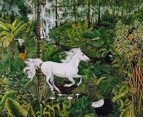 dominique hoffer, LA TRIOMPHALE IMPETUOSITE DU DESIR, Fantasy, Contemporary Art
